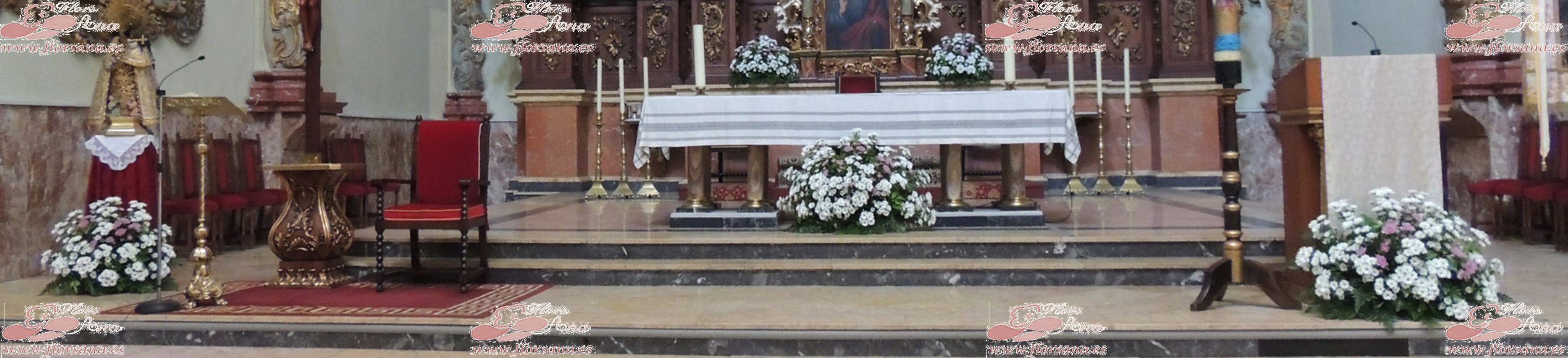 Church altar 3 flors ana carcaixent spain for Altar decoration for first holy communion